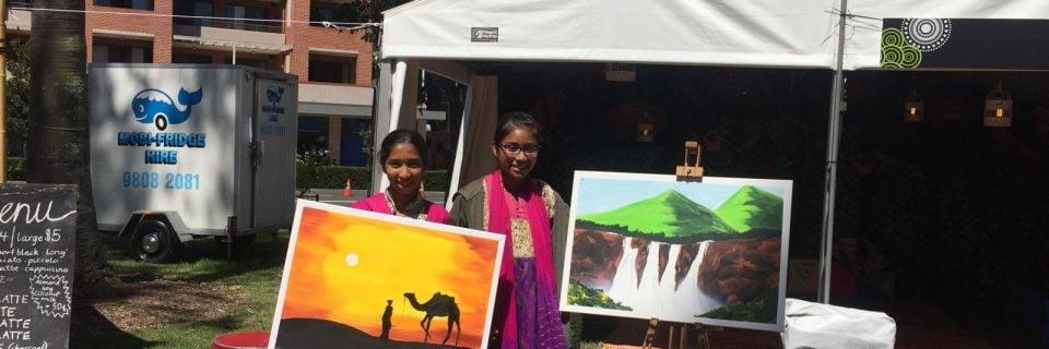 Painting workshop at Parramasala by Hindu Council
