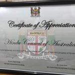 Fiji awards Hindu Council of Australia for its help during floods