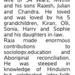 Tributes to Prof Raja Jayraman, former Vice President
