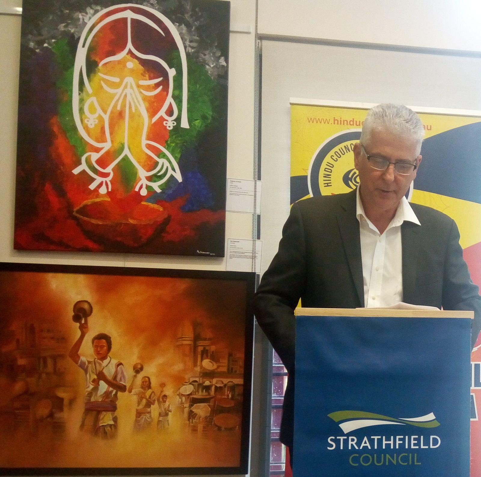 Diwali ArtSpace exhibition opened by Mayor of Strathfield