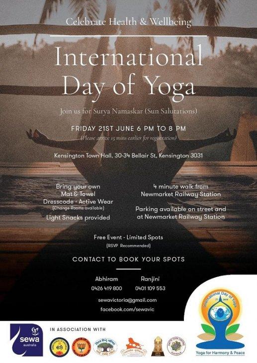 Yoga Day celebration in Victoria - Hindu Council of Australia