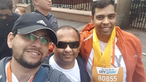 Hindus participate in City2Surf for charity