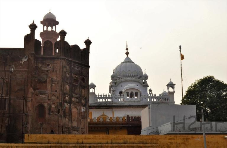 View of Ranjit Singh Samadhi, from Lahore Fort